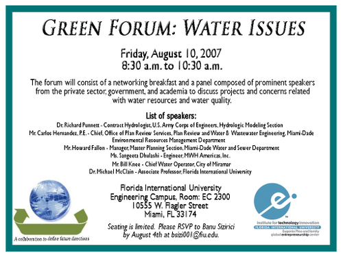 Green_forum_water_issues